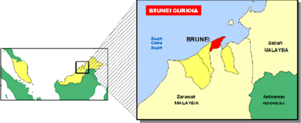 Nepalese, Gurkha in Brunei map