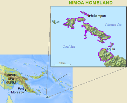 Nimowa in Papua New Guinea map