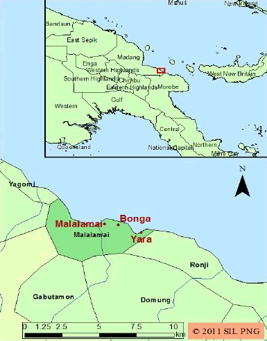 Malalamai in Papua New Guinea map