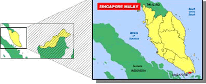 Malay in Singapore map