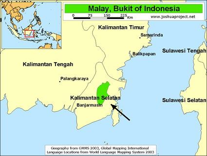 Meratus, Bukit in Indonesia map