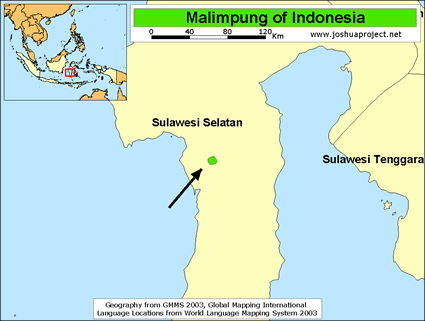 Malimpung in Indonesia map