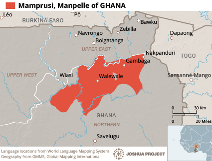 Mamprusi, Manpelle in Ghana map