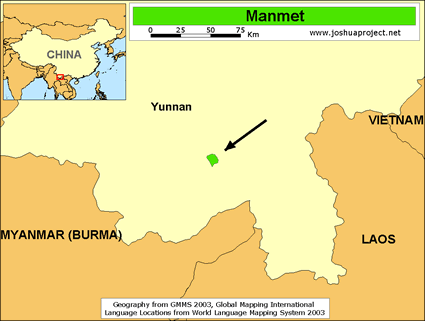 Manmet in China map