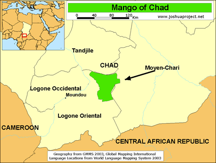 Mango in Chad map