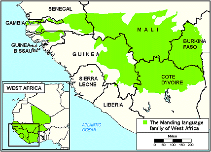 Maninka, Eastern in Liberia map