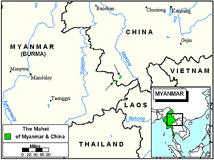 Manipuri, Ponna in Myanmar (Burma) map