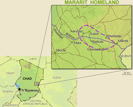 Mararit in Chad map