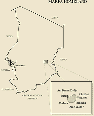 Marfa in Chad map