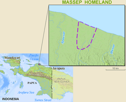 Massep in Indonesia map