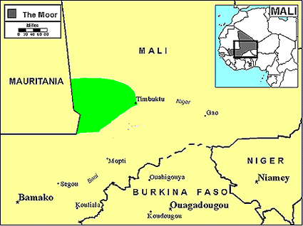 Moor in Mali map