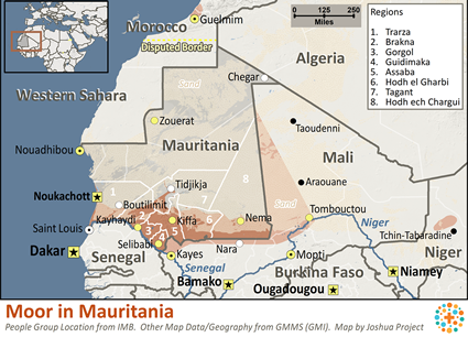 Moor in Mauritania map