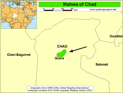 Mawa in Chad map