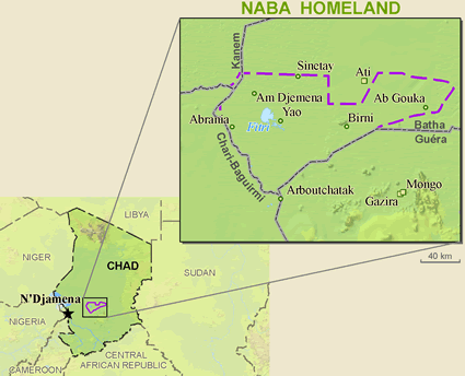 Medogo in Chad map