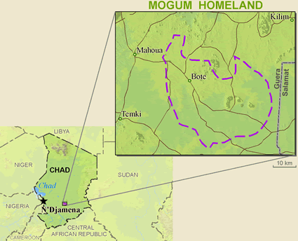 Mogum in Chad map