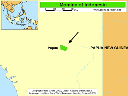 Momina in Indonesia map