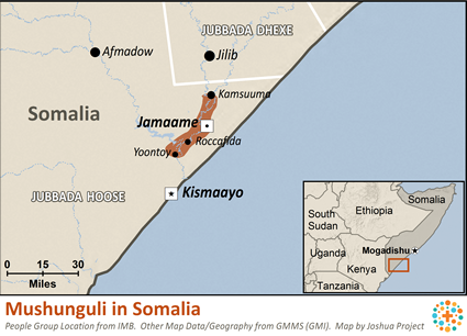 Mushunguli in Somalia map