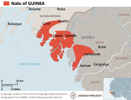 Nalu in Guinea map