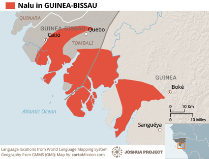 Nalu in Guinea-Bissau map