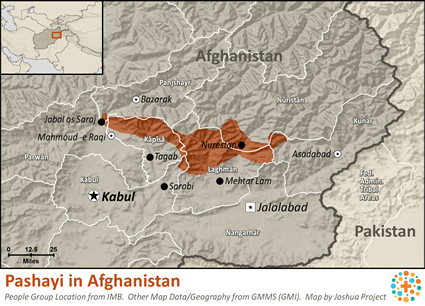 Pashayi, Northwest in Afghanistan map