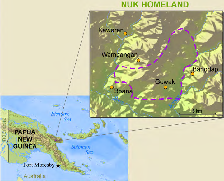 Nuk in Papua New Guinea map