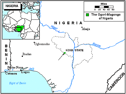 Ogori-Magongo in Nigeria map