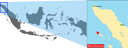 Sikule in Indonesia map