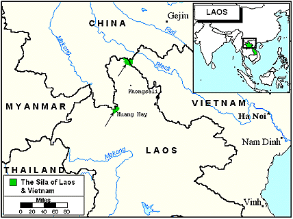 Sila in Laos map