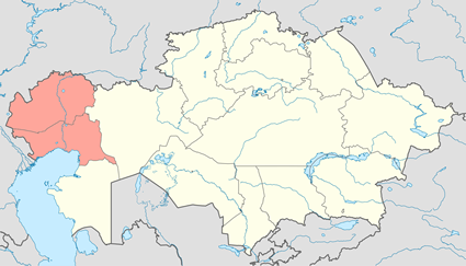 Romani, Sinte in Kazakhstan map