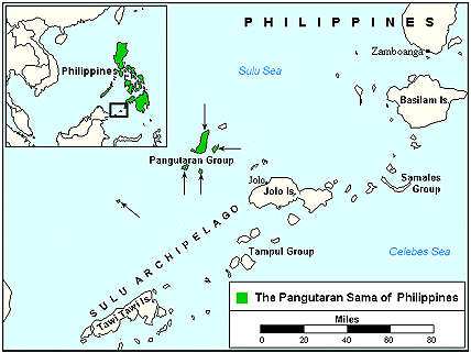 Sama Pangutaran in Philippines map