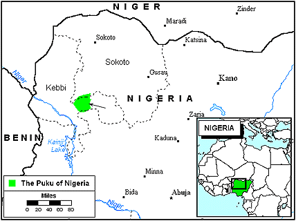 Puku, Fakanchi in Nigeria map