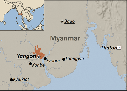 Punjabi in Myanmar (Burma) map