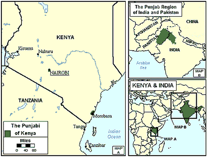 Punjabi in Kenya map