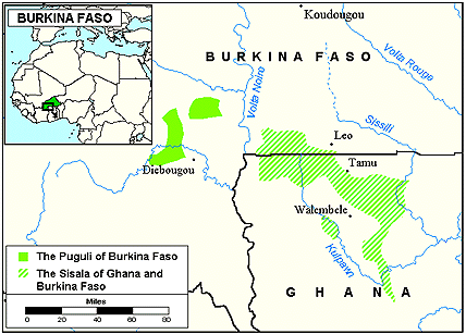 Pwo in Burkina Faso map