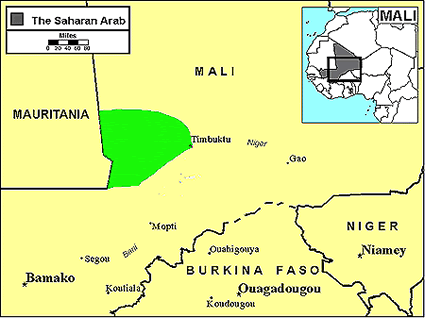 Arab, Saharan in Mali map