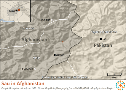 Sau in Afghanistan map