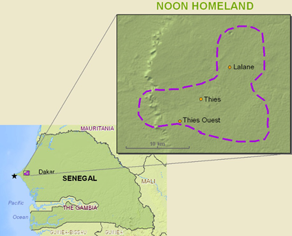 Serer-Non in Senegal map