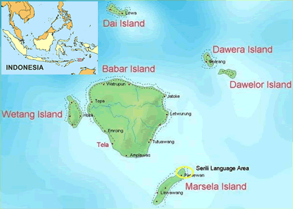 Serili in Indonesia map