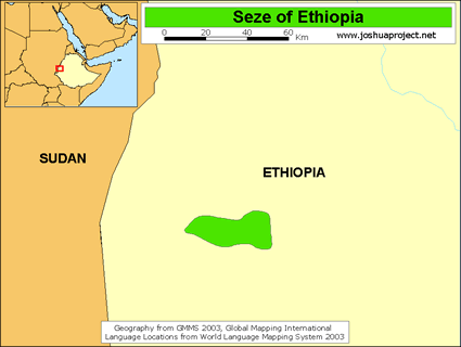 Seze in Ethiopia map