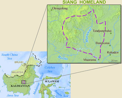 Siang in Indonesia map