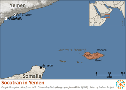 Socotran in Yemen map