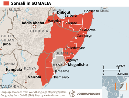 Somali in Somalia map