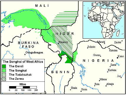 Songhai-Koyraboro in Mali map