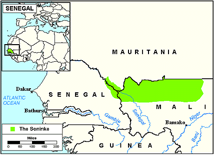 Soninke in Senegal map