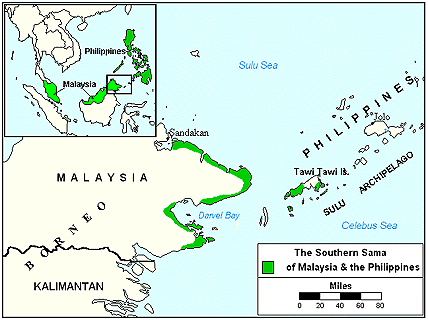 Sama, Southern in Philippines map