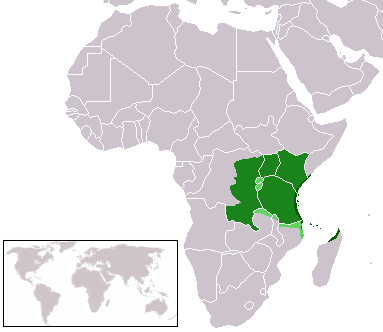 Swahili in Mozambique map