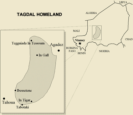 Iberogen, Igdalen in Niger map