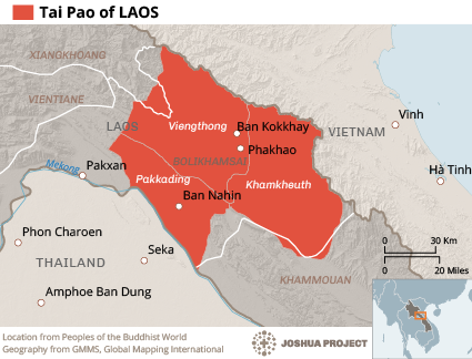 Tai Pao in Laos map