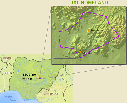 Tal in Nigeria map