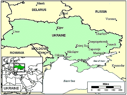 Tatar in Ukraine map